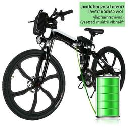 """2 WORKING MODES Folding Electric Mountain Bike with 26"""" Supe"""